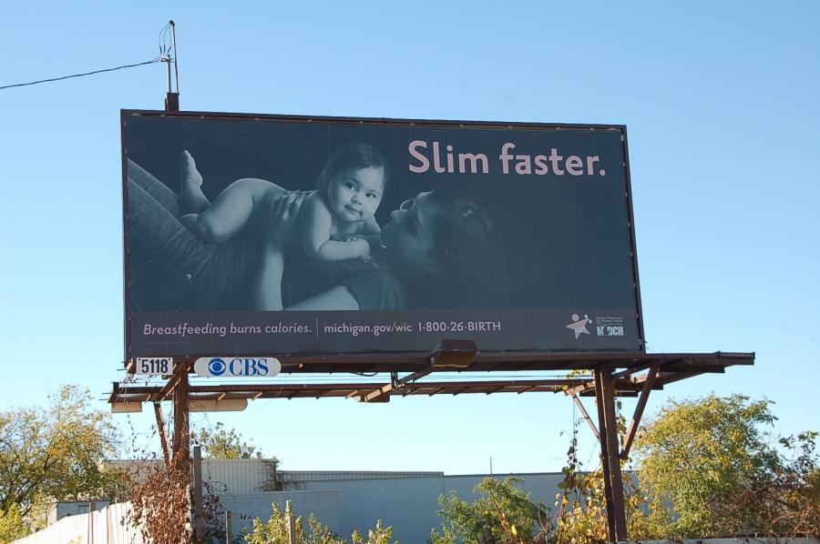 Breast Feed You'll Slim Faster Billboard