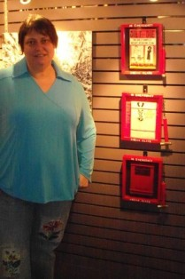 Brenda with series In Emergency Break Glass at River's Edge by Melissa Ptak Moline
